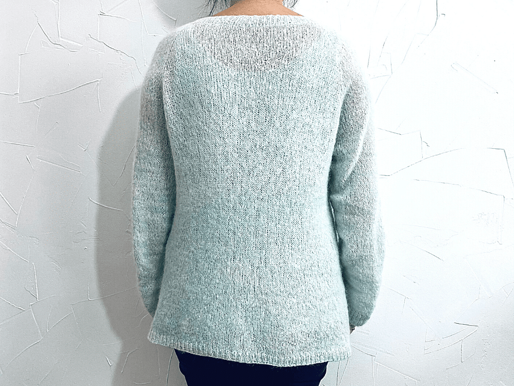 Tricot Pull Petit Pull Lilas Dos